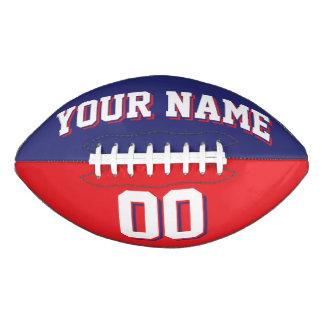 二色の濃紺および赤の習慣のフットボール アメリカンフットボール