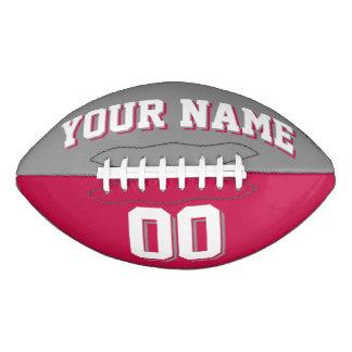 二色の灰色および深紅の習慣のフットボール アメリカンフットボール