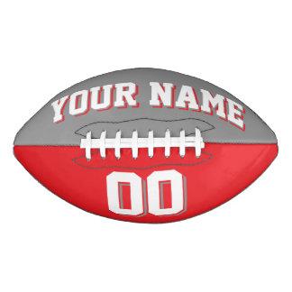 二色の灰色および赤くカスタムなフットボール アメリカンフットボール