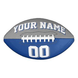 二色の灰色および青のカスタムなフットボール アメリカンフットボール
