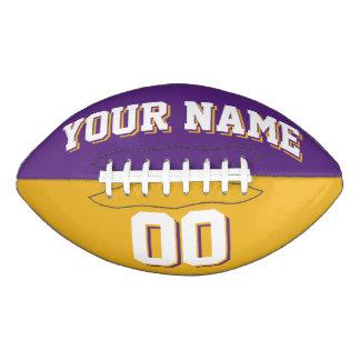二色の紫色および金ゴールドの習慣のフットボール アメリカンフットボール