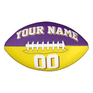 二色の紫色および黄色のカスタムなフットボール アメリカンフットボール