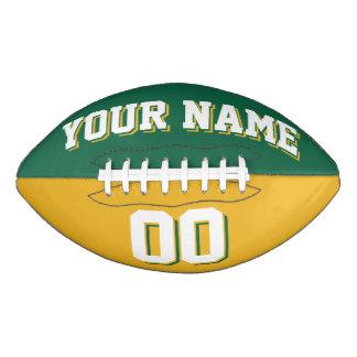 二色の緑および金ゴールドの習慣のフットボール アメリカンフットボール