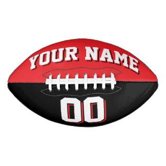 二色の赤くおよび黒くカスタムなフットボール アメリカンフットボール