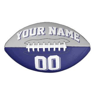 二色の銀製灰色および海軍習慣のフットボール アメリカンフットボール