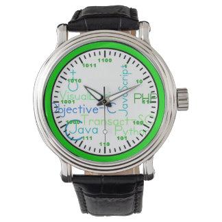 二進コンピュータ・サイエンス腕時計 腕時計