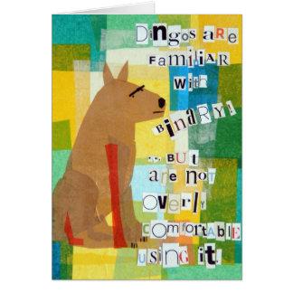 二進ディンゴの挨拶状 カード