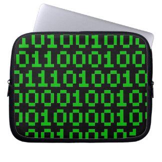 二進ピクセル緑 ラップトップスリーブ