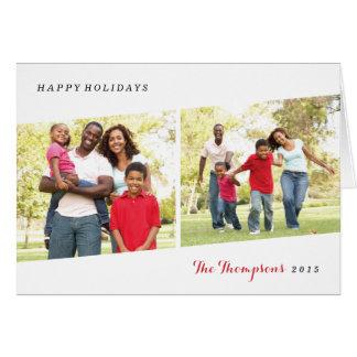 二部作の休日の写真の挨拶状-果実 カード