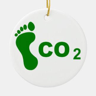 二酸化炭素の足跡 セラミックオーナメント