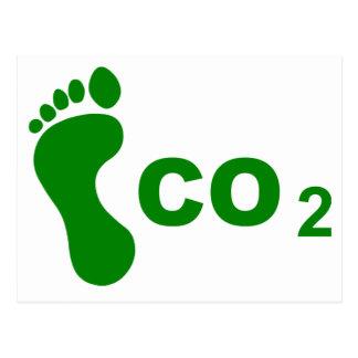 二酸化炭素の足跡 ポストカード