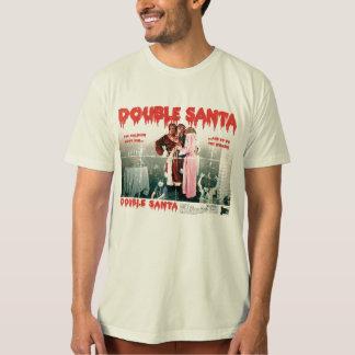 二重サンタのTシャツ Tシャツ