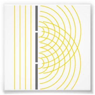 二重スリット光波の粒子科学の実験 フォトプリント