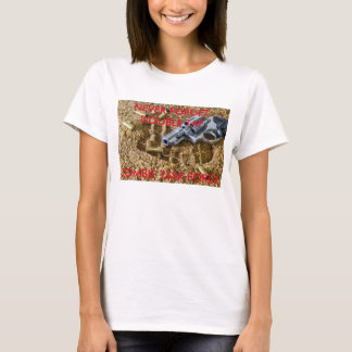 二重タップのゾンビ戦争のタスクフォース Tシャツ