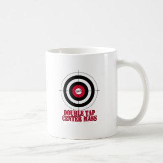 二重タップの中心の固まり銃ターゲット コーヒーマグカップ