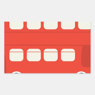 二重デッカーバス 長方形シール