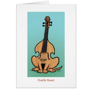 二重バセット犬カード カード