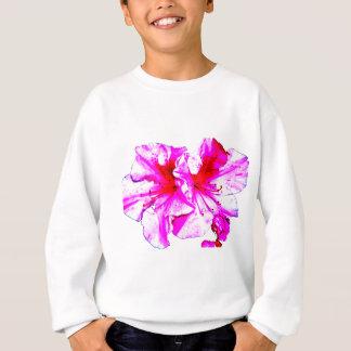 二重ピンクのしぶきのツツジの開花 スウェットシャツ