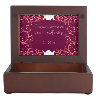 二重女神のレズビアンのHandfastingの記念品箱 ジュエリーボックス