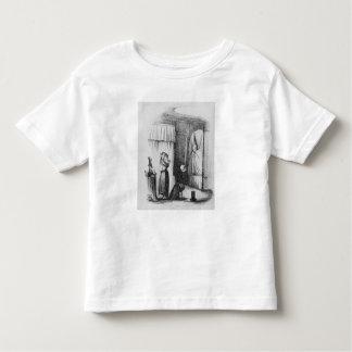 二重寝かせられた部屋の中年の女性 トドラーTシャツ
