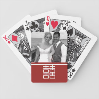 二重幸福の中国のな結婚式 バイスクルトランプ