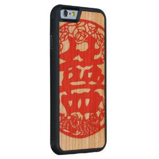 """""""二重幸福の電話箱"""" CarvedチェリーiPhone 6バンパーケース"""