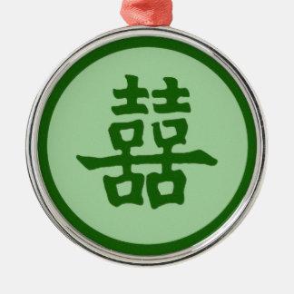 二重幸福-ヒスイ メタルオーナメント