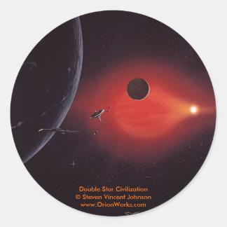 二重星文明、二重星Civilizat… ラウンドシール