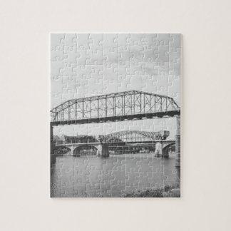 二重橋白黒写真撮影 ジグソーパズル