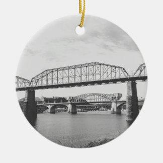 二重橋白黒写真撮影 セラミックオーナメント