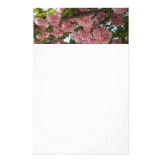 二重活気付く桜IVのピンクの春 便箋