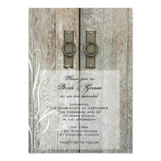 二重納屋の大戸の国の結婚式招待状 12.7 X 17.8 インビテーションカード