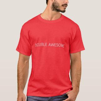 二重素晴らしい Tシャツ