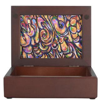 二重絵画の抽象芸術のギフト用の箱 宝石箱