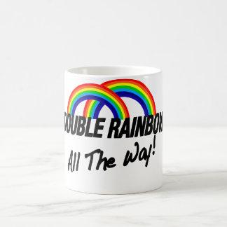二重虹ずっと コーヒーマグカップ