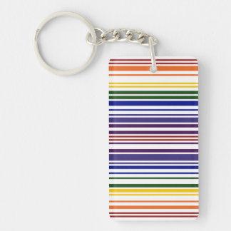 二重虹のバーコード キーホルダー