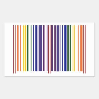 二重虹のバーコード 長方形シール