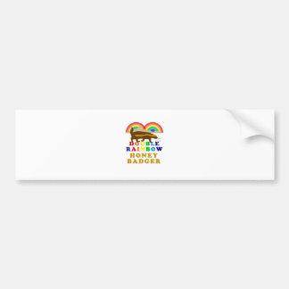 二重虹のラーテル バンパーステッカー