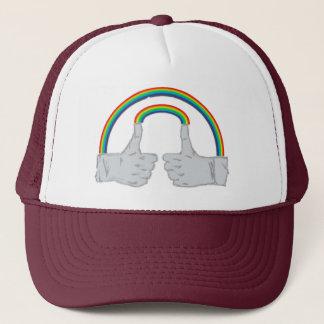 二重虹の倍は手早くめくります キャップ