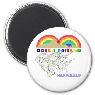 二重虹のnarwhals マグネット