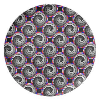 二重陰陽の螺線形のプレート プレート