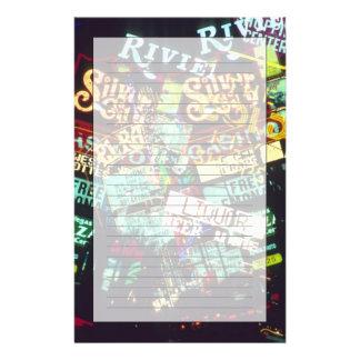 二重露光、カジノのシンボルや象徴、ラスベガス、 便箋