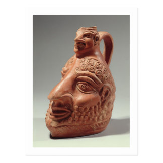 二重頭部、c.400広告の形のつぼ(陶器) ポストカード