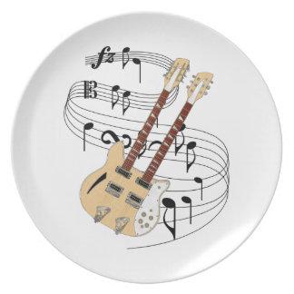 二重首のギター プレート