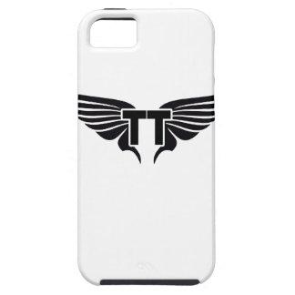 二重T翼のコレクションの黒の翼 iPhone SE/5/5s ケース