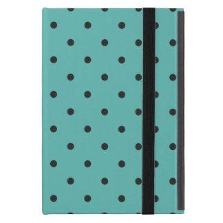 五十年代のスタイルのターコイズの水玉模様 iPad MINI ケース