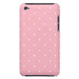 五十年代のスタイルのピンクの水玉模様 Case-Mate iPod TOUCH ケース