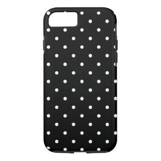 五十年代は白黒水玉模様のスタイルを作ります iPhone 8/7ケース