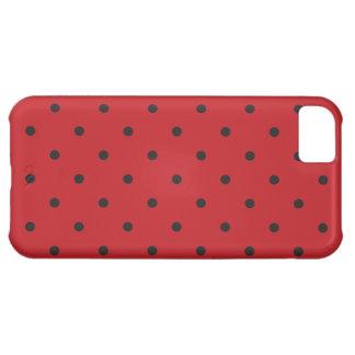 五十年代は赤い水玉模様のスタイルを作ります iPhone5Cケース