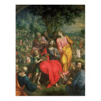 五千、c.1590の食べ物を与えること ポストカード